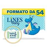 Lines Baby Large, Confezione Standard da 54 Pannolini, Taglia 4 (8-16 Kg)