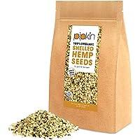 Pipkin Semillas de Cáñamo 100% Bio Orgánicas 500g Ricas en Proteínas, Fibra, Vitaminas y Aminoácidos, Tentempié Saludable, Aptas para Vegetarianos y Veganos, Sin Gluten y Ricas en Omega 3, 6 y 9 - Ayudan al Sistema Inmunitario, Totalmente Certificadas por la Organic Soil Association, No-GMO (Peladas)