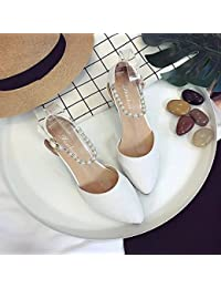 RUGAI-UE Sandalias de tacón Verano High-Heeled Zapatos Zapatos de hebilla,Thirty