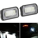 KaTur 2x 183528SMD Weiß 6000K LED License Plate Hinten Rücklicht Lampe Birne für Benz W2034D Sedan