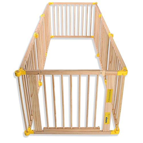 KIDUKU® 7,2 Meter Laufgitter XXL klappbar inkl. Tür, bestehend aus 8 Elementen, individuell formbar Laufstall Absperrgitter - 3