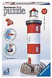 Ravensburger 12565 Leuchtturm in der Brandung 3D Puzzle Turm Küste Felsen Meer