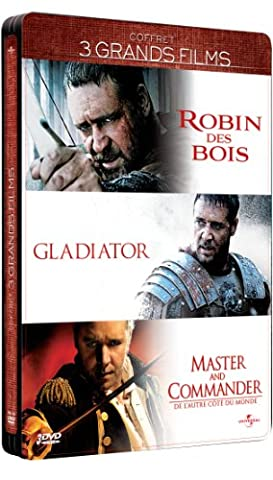 Russell Crowe - 3 grands films : Robin des Bois + Gladiator + Master and Commander [Édition Collector boîtier
