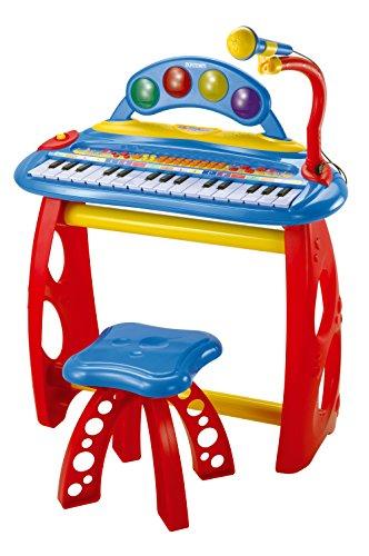 Bontempi mk 3440.2 - tastiera a 31 tasti con microfono, gambe di supporto e sgabello