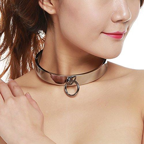 Greenpinecone Hohe Qualität SM Metall Bondage Fetisch Halsband Halsbänder Halsschmuckhalsband Sex Spielzeug (Damen)