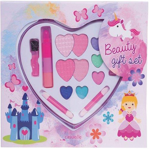 Enfants Fard Maquillage Beauty Maquillage forme de cœur 16 pièces (08)