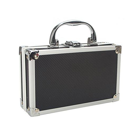 Aluminium Koffer Tool Box Portable kleine Aufbewahrungsbox Schwamm Futter Handheld Organizer (Aluminium-aufbewahrungsbox)
