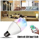 Smart Music Lampe mit Bluetooth Lautsprecher,Beatie Intelligente LED Birne 5W-E27 Kabellos Smart LED Light RGB by App Kontrolle für iOS und Android,1 Stück