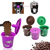 Morden Refillable Coffee Filter K-Carafe K-Cup Pod Spoon Set For Keurig 2.0 Machines
