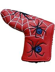 Rojo golf hoja Putter headover Cover con Diseño de telaraña ideal para ping Anser o Scotty Cameron hoja