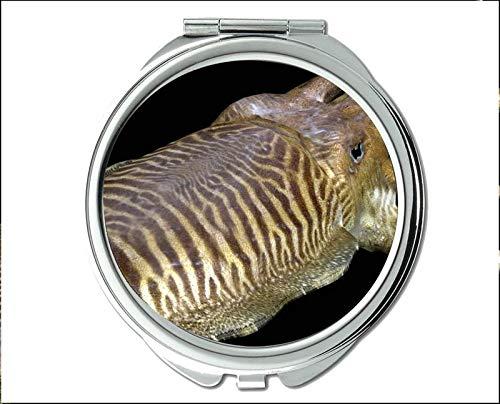 Yanteng Spiegel, Kompaktspiegel, Mandarinfisch-Thema des Taschenspiegels, tragbarer Spiegel 1 X 2X Vergrößerung