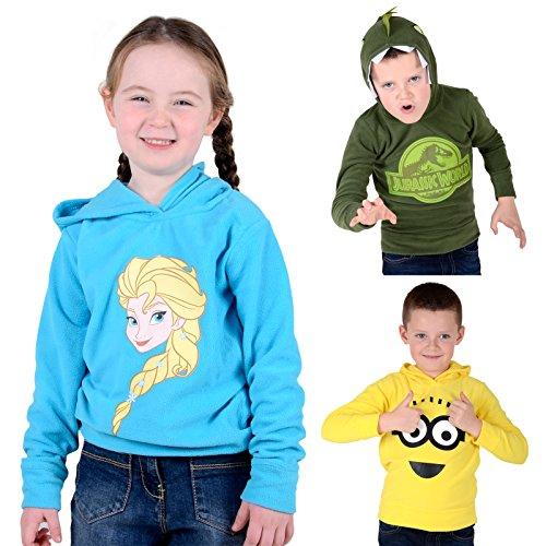 Kids Fleece Hoody Official Character Boys Girls Jumper Sweater Hoodie 2-7 Years