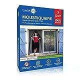 Moustiquaire ajustable aimantée TRANQUILISAFE pour baie vitrée avec 2 ouvertures...