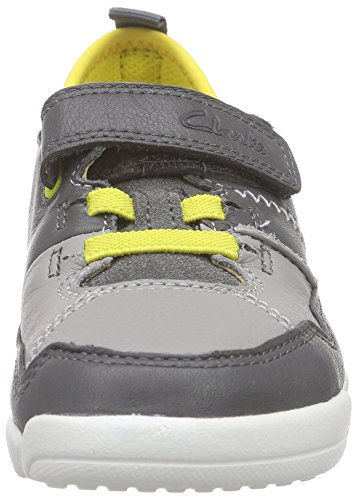 Clarks Kids Tri Scotty Inf, Baskets Basses garçon Gris (Grey Combi Lea)