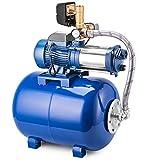 GIOEVO Pompa Centrifuga da Giardino 6000 L/H Pompa Acqua in Acciaio Inox con Contenitore a Pressione 50 L (MC-1800-6000 L/H)