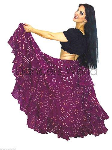 Polka Dot 25 Yard Yards Tribal Gypsy Baumwolle Bauch Tanzen Tanz Rock (Mauve)