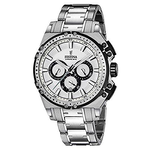Festina Herren Chronograph Quarz Uhr mit Edelstahl Armband F16968/1
