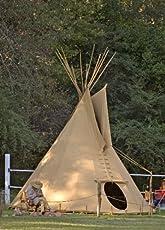 Ø 4m Tipi Indianerzelt Wigwam Indianer Zelt Sioux Style