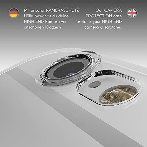 Urcover® Apple iPhone 6 / 6S [ KAMERASCHUTZ ] Handy Schutz-Hülle | TPU / Silikon Handyhülle Hell Blau Transparent | Flexibel Ultra Slim Dünn | Smartphone Zubehör Back-Case | Soft Crystal Cover Schale Klar