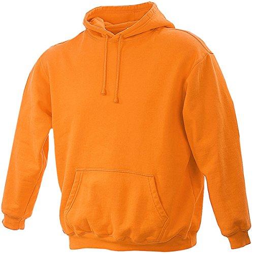 James & Nicholson-Felpa con cappuccio-Tasca Canguro-jn047-Uomo Arancione