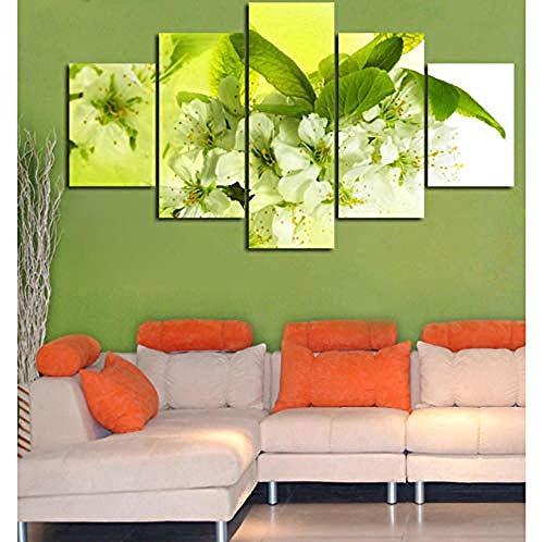 Birne Blumen Wohnkultur Modulare Bild Leinwand Malerei 5 Stücke Poster Wand für Wohnzimmer Moderne Kunst (Einschließlich Rahmen) -