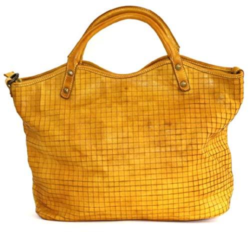 c8400d0a59b9a BZNA Bag Lotta gelb Italy Designer Damen Ledertasche Handtasche  Schultertasche Tasche Leder Beutel Neu