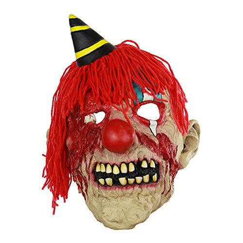 JNKDSGF HorrormaskePlüsch Bloody Clown Kostüm Maske Für Erwachsene Party Horror Prop Halloween Liefert Halloween Cosplay Halloween Maske (Clown Kostüm Für Erwachsene Professionelle)
