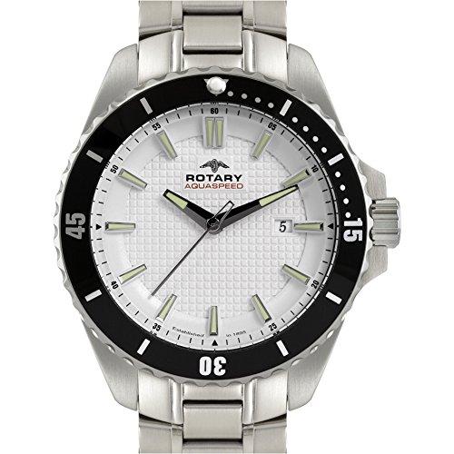 Herren-Armbanduhr Analog Quarz Edelstahl AGB00293/06