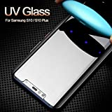MAPNEQ Pellicole protettive in Vetro temprato Nano Liquid Screen Protector per Samsung Galaxy S10 Plus Vetro temperato Vetro Pieno UV per...