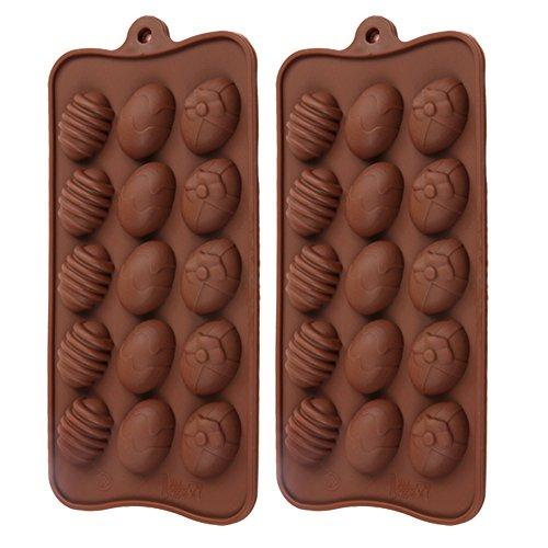 Mylifeunit chocolate mold, silicone candy mold, a forma di uovo stampo per cioccolato candy ice and jelly (set da 2)