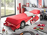 habeig Kinderbett RED Racer 190x90cm 200x90cm Jugendbett Autobett rot Bett F1 Rennauto