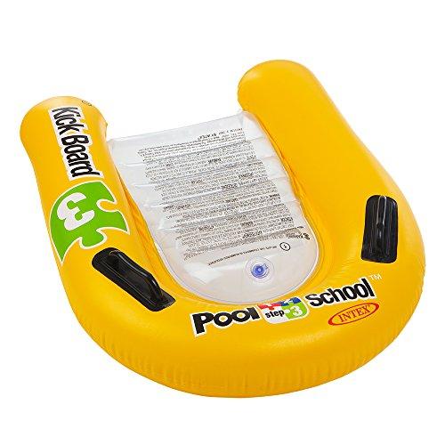 Intex 58167EU Schwimmhilfe Kickboard Pool School Step 3, Gelb, 79 x 76 cm