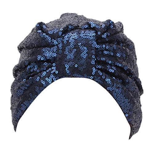 VRTUR Muslimische Kopftuch Damen Mehrfarbig Mütze Chemo Hut Turban Kopf Wickeln Cap Ms. Chemotherapie Kappe Mütze Mit Turban-Knoten ()