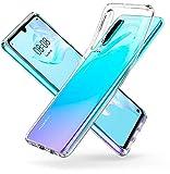 Spigen Coque Huawei P30 [Liquid Crystal] Souple, Fine, Silicone, Transparente, Anti-Rayure, Coque Etui House pour Huawei P30 (L38CS25736)