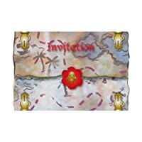 amscan Pirate Invitations, Red