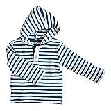 Leela Cotton Baby/Kinder Kapuzenshirt aus Bio-Baumwolle, Navy/Natur, 98/104