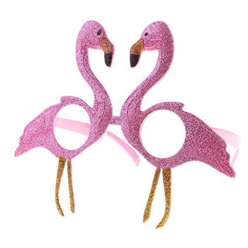 MagiDeal Flamingo Brille Partybrille Spaßbrille Erwachsene Kinder Party Kostüm Zubehör