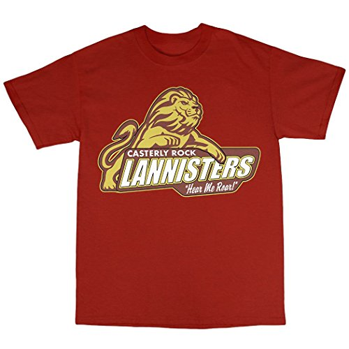 Casterly Rock House Lannister T-Shirt Baumwolle Rot