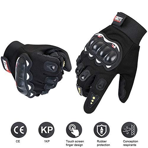 URAQT Guanti Moto Full Finger Touch Screen Guanti Sportivi da Esterno Hard Knuckle Protettivo per Motociclismo, Escursionismo, Ciclismo, Attività all'Aperto, Sports... (#1)