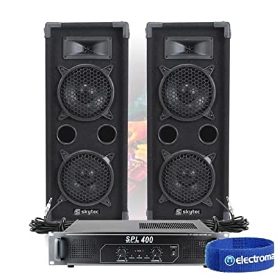 "2x MAX 2 x 6"" Speakers Mixer Power Amp Bedroom DJ Disco Party PA Hi-Fi 1200W"