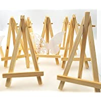 JZK 10 x Mini pequeña madera caballete para boda foto menús bautismal cumpleaños decoración mesa de fiesta & bar