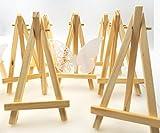 JZK 10 x mini petit tableau de table en bois chevalet panneau de fête photo porte notes place carte à carte table porte Pour fête de naissance d'anniversaire de mariage & Réglage de la table de bar
