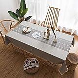 CHRISTMAD Tischdecken Esstisch Couchtisch Bar Tisch Leinen Vintage Spitze Baumwolle Hanf Tisch Topper Tischdecke Tischsets Tischschutz,B-180 * 140CM
