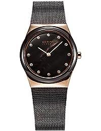 Bering Time–Reloj de pulsera analógico para mujer cuarzo, revestimiento de acero inoxidable 32230–262