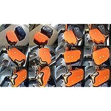 Calidad Silicona 3Botones sin llave Fob Protector caso Lexus CT200H IS200GS250(naranja)