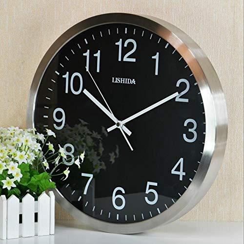 DZB 14 Zoll Wanduhren europäischen einfachen Stil stille große übergroße Uhr Vintage Schlafzimmer Wohnzimmer Küche Standuhr Nachttischuhr T-Shirt (Size : B) - Ihome-radiowecker