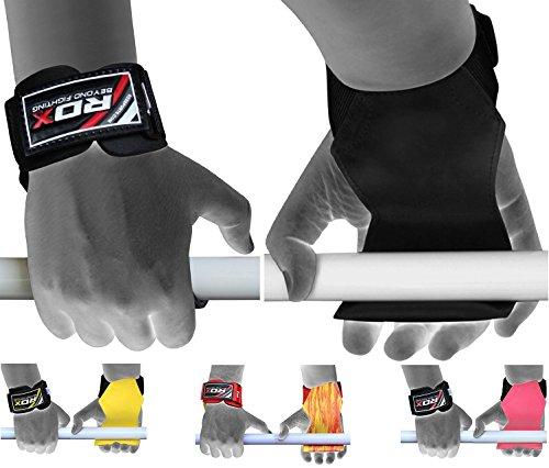 Rdx fasce polsi palestra fitness cinghie sollevamento pesi palma supporto peso bodybuilding