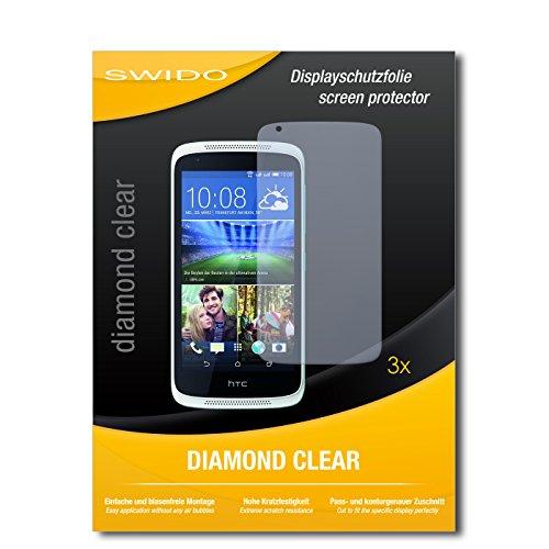 3 x SWIDO® Schutzfolie HTC Desire 526G Dual Sim Bildschirmschutz Folie