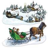 Décoration murale - Merveilleux paysage d'hiver - Winter Wonderland - Noël...