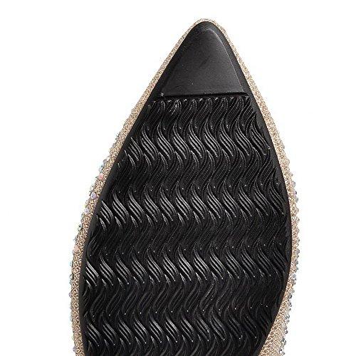Indicato Tira I Solido Materiale Dorati Tallone Flessibile Donna Pattini Colore Basso Voguezone009 BYwFnqS